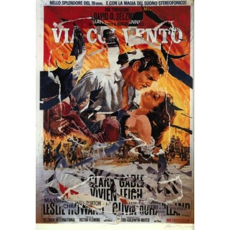 Poster Rotella - Gone with the wind