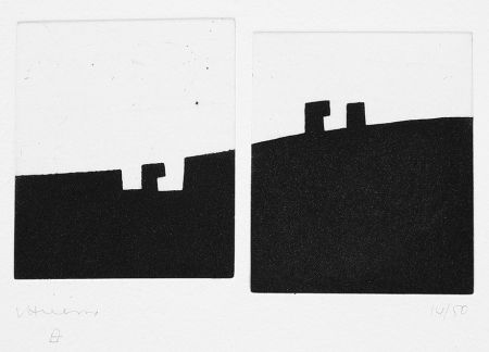 Engraving Chillida - Gora Bera – Arriba Abajo