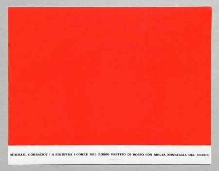 Screenprint Isgro - Gorbaciov corre nel rosso (Storie rosse)