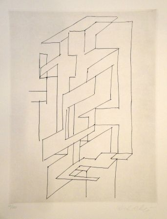 Etching Vasarely - Gordes Gestalt