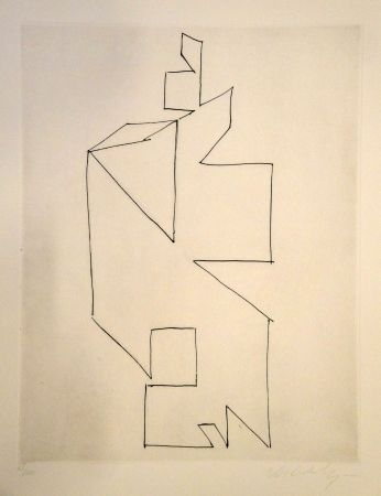 Drypoint Vasarely - GORDES SYNTHESE