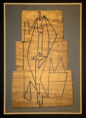 Lithograph Vasarely - Gordes Tabor