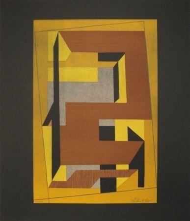 Lithograph Vasarely - GORDES TAIRA