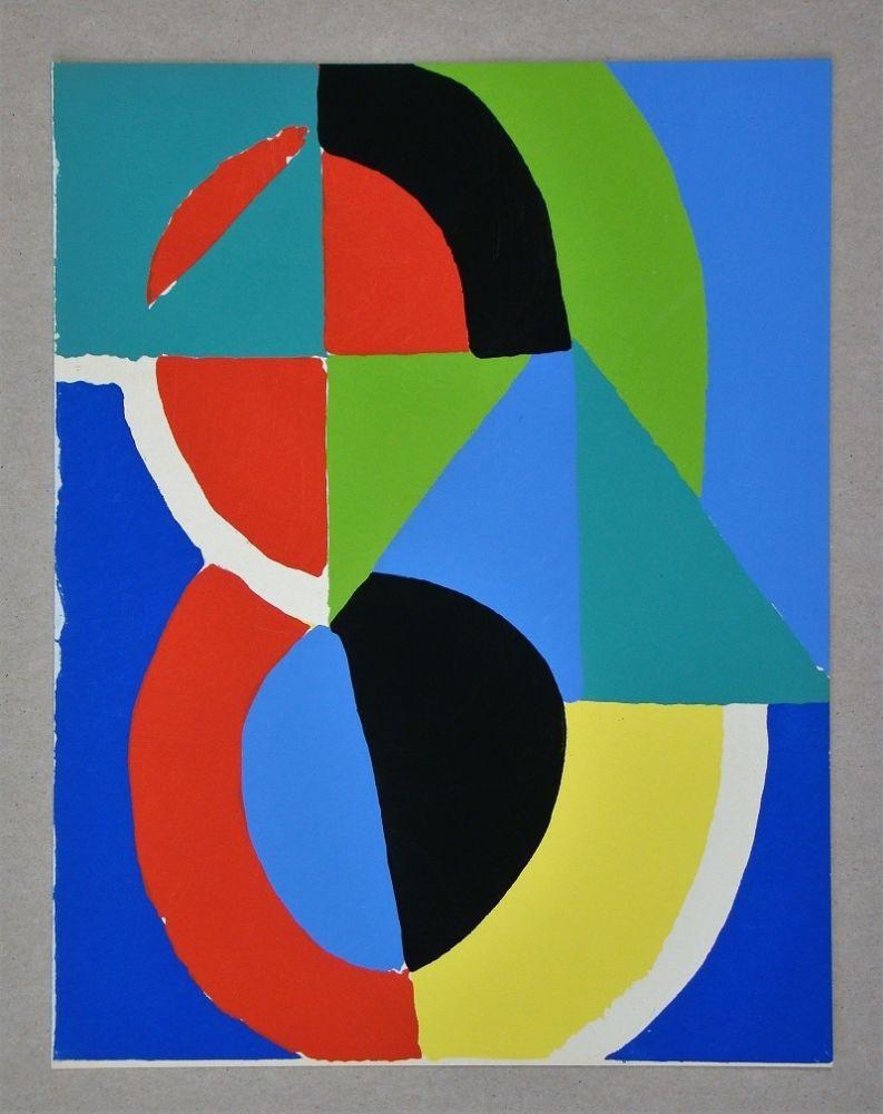 Pochoir Delaunay - Gouache, 1955