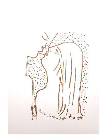 Lithograph Cocteau - Gouffre