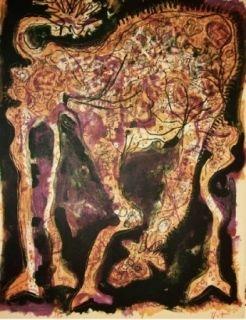 Lithograph Nieto - Gracieuse dépliée