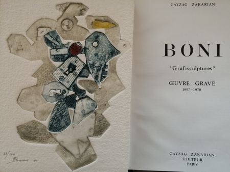 Illustrated Book Boni - Grafisculptures - Oeuvre gravé - 1957 - 1970