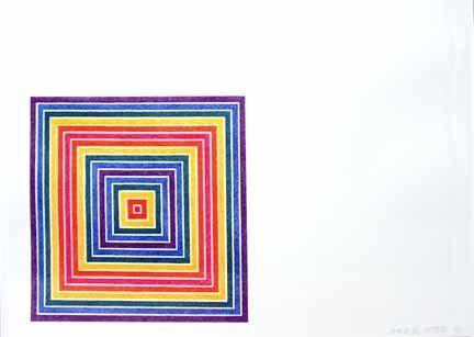 Lithograph Stella - Gran Cairo  State II:(1973) from Multicolored Squares