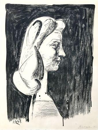 Lithograph Picasso - Grand Profil  (Francoise Gilot)