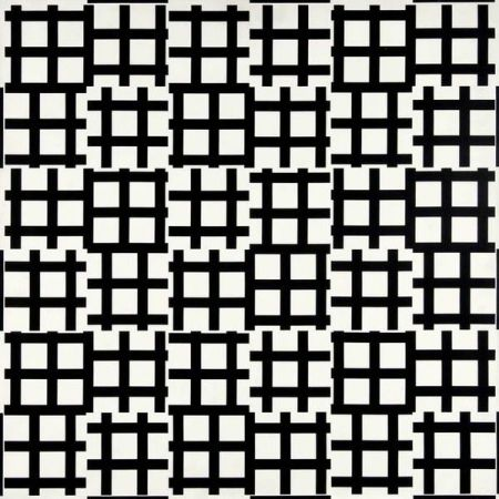 Lithograph Morellet - Grand tirets 0° 90°