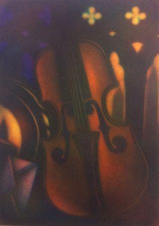 Mezzotint Schkolnyk - Grand violon rouge