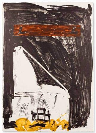 Lithograph Tàpies - Grande Chaise