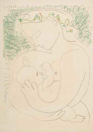 Lithograph de Pablo Picasso, Grande maternite on Amorosart