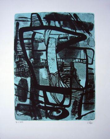 Lithograph Esteve - Grande noire