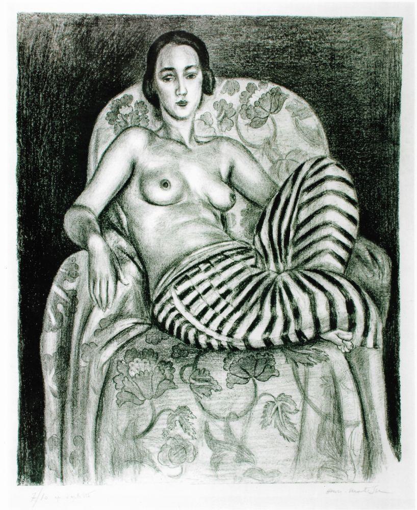 Lithograph Matisse - Grande odalisque à la culotte bayadère