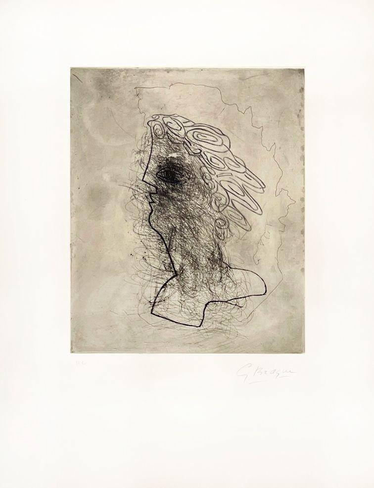 Etching Braque - Grande tête