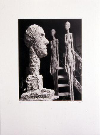 Lithograph Scheidegger - Grande tête en plâtre
