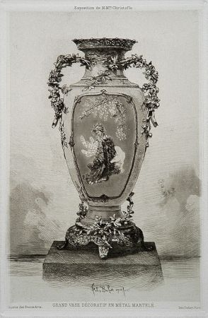 Etching And Aquatint Buhot - Grande vase décoratif
