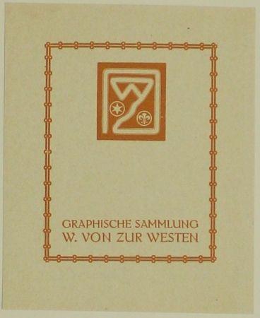 Woodcut Fölkersam (Von) - Graphische Sammlung W. von Zur Westen