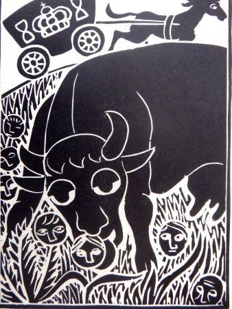 Linocut Heerup - Grass II