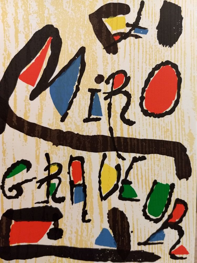 Illustrated Book Miró - Graveur 1