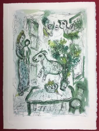 Etching And Aquatint Chagall - Gravure originale en couleur pour Life and Work (F. Meyer 1961)