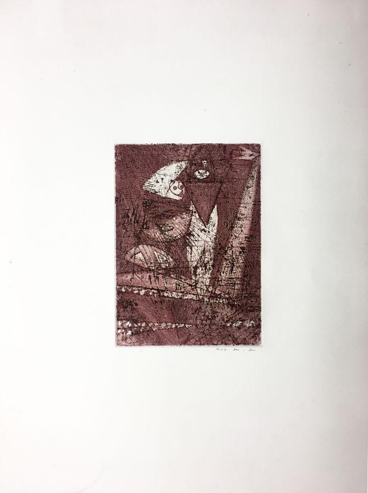 Etching And Aquatint Ernst - Gravure pour : MORT AUX VACHES ET AU CHAMP D'HONNEUR (1950). Tirage à part.