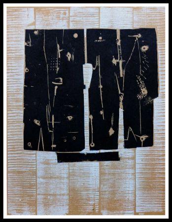 Woodcut Consagra - GRAVURE SUR BOIS