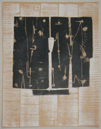 Woodcut Consagra - Gravure sur bois pour XXe Siècle