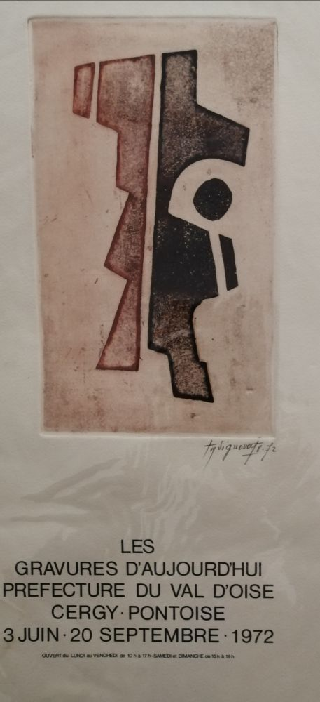 Engraving Signovert - Gravures d'aujurd'hui - Cergy Pontoise