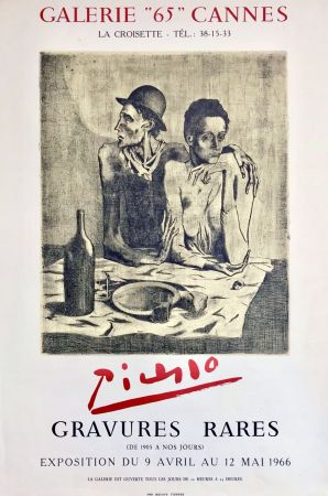 Lithograph Picasso - Gravures Rares ' Galerie 65 '