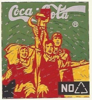 Lithograph Guangyi - Great criticism - Coca Cola