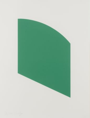 Lithograph Kelly - Green Curve