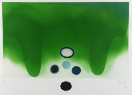 Aquatint Pasmore - Green Darkness