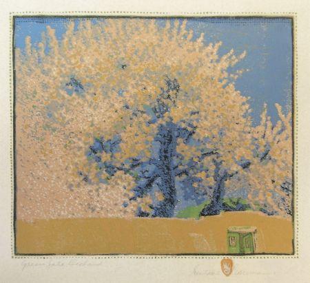 Woodcut Baumann - Green Gate Orchard
