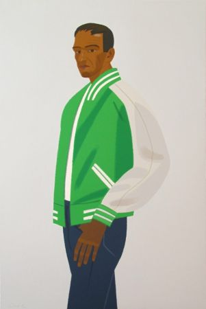 Screenprint Katz - Green Jacket (from Alex & Ada portfolio)