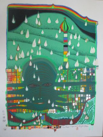 Screenprint Hundertwasser - Green Power