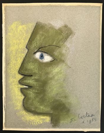 No Technical Cocteau - Green Profile on Grey Background