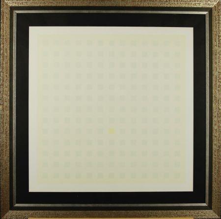 Screenprint Calderara - Green Squares