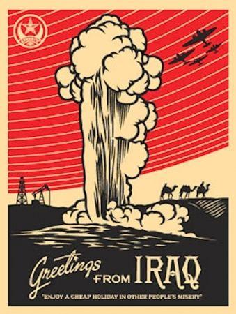 Screenprint Fairey - Greetings from Iraq