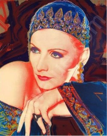 Screenprint Jasen Smith - Greta Garbo: Mata Hari