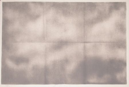 Lithograph Goode - Grey Folded Clouds - IV Grey