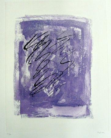 Etching And Aquatint Fautrier - Griffure sur fond violet