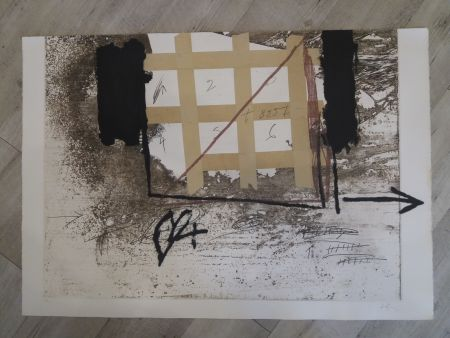 Etching And Aquatint Tàpies - Grille de papier