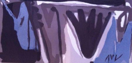 Lithograph Van Velde - Grise nuit