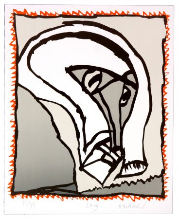 Lithograph Alechinsky - Griserie à minuit II