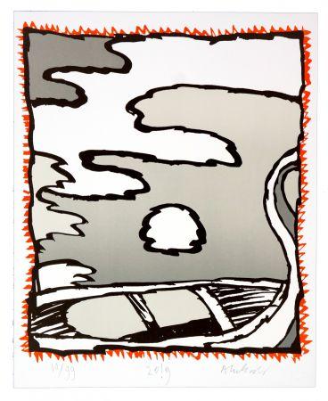 Lithograph Alechinsky - Griserie à minuit V