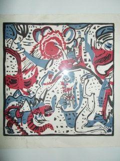 Woodcut Kandinsky - Grosse Anferstehung