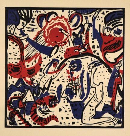 Woodcut Kandinsky - Grosse Auferstehung