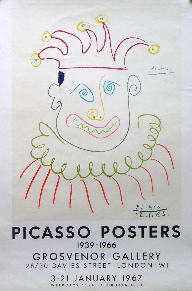 Lithograph Picasso - Grosvenor Gallery, London 1967 ed.150 !
